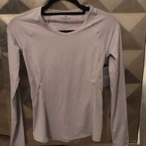 NWT Athleta long sleeve luster top tee